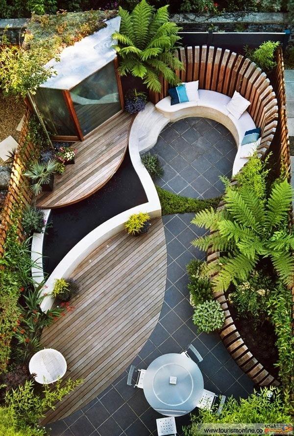 طراحی باغ کوچک در حیاط خانه شما