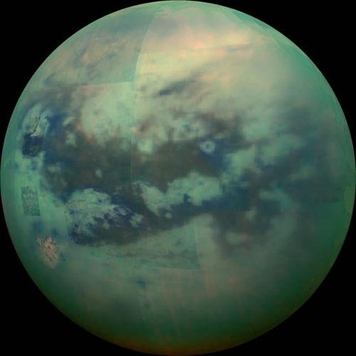 عکسی که در آن میتوانید سطح تیتان را ببینید/عبور از اتمسفر غلیظ بزرگترین قمر زحل