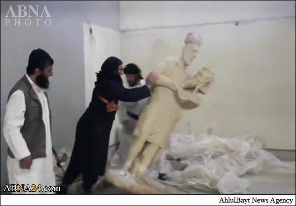 فاجعه فرهنگی داعش در موزه موصل را ببینید