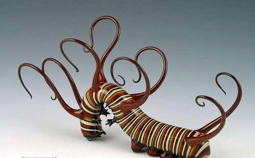مجسمه های شیشه ای جانوران