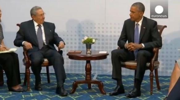 آمریکا پس از 60 سال با همتای کوبایی به گفتگو نشست/ تشویق رهبران آمریکای لاتین برای سخنرانی اوباما