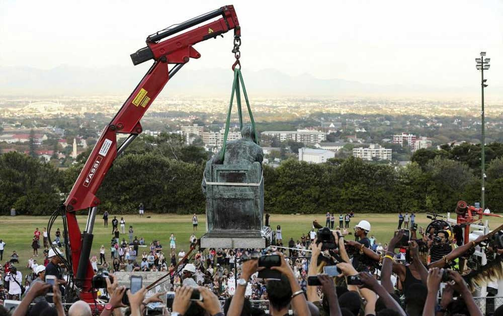 برداشتن مجسمه رودس در آفریقای جنوبی