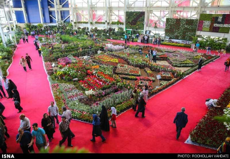 تصاویری زیبا از نمایشگاه گل و گیاه تهران