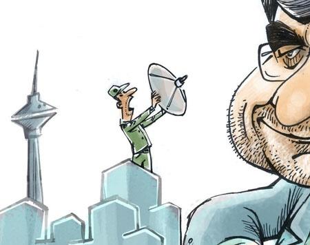 کاریکاتور/ جنتی و دیش های ماهواره!