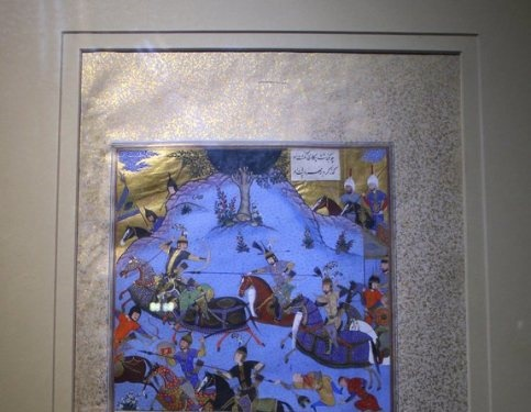 تصویر یک برگ از شاهنامه که 8 میلیون پوند قیمت دارد