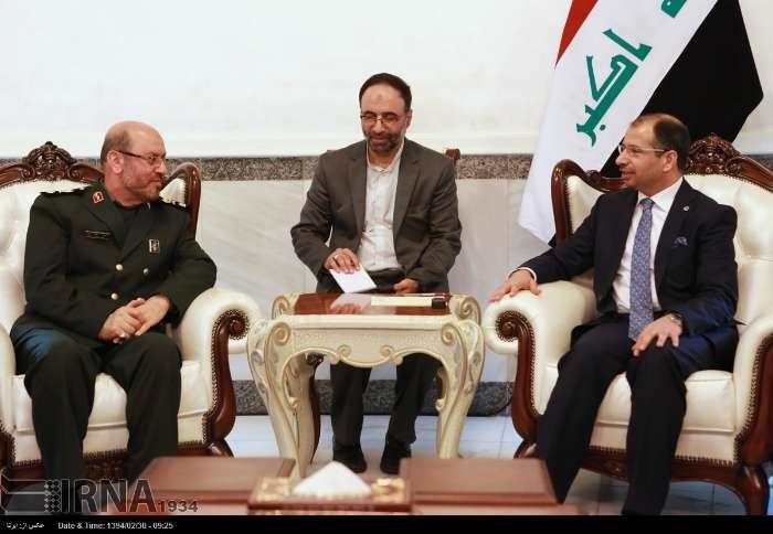 وزیر دفاع ایران در عراق به ملاقات چه کسانی رفت؟