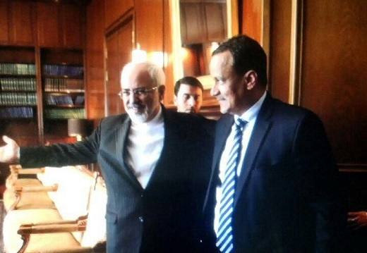 ظریف در دیدارِ نماینده ویژه بان کی مون: برقراری آتش بس،نقطه آغاز هر گونه روند صلح آمیز در یمن است