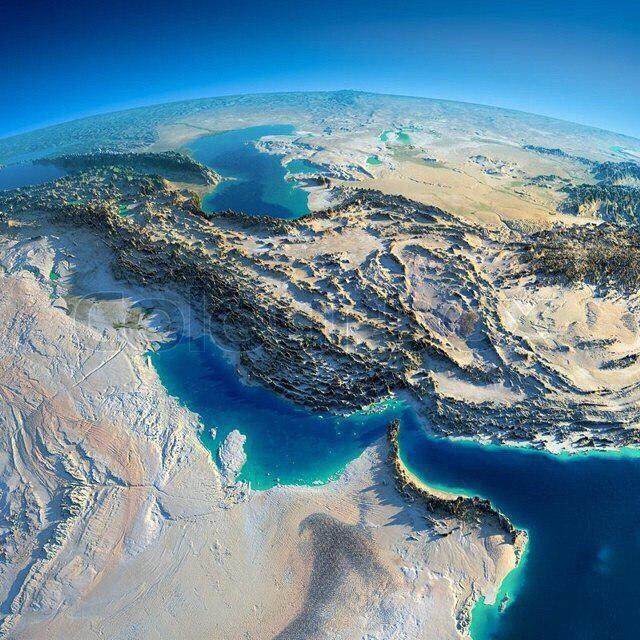 آخرین عکس ماهواره ای از فلات ایران