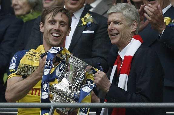 جشن قهرمانی آرسنال در FA Cup