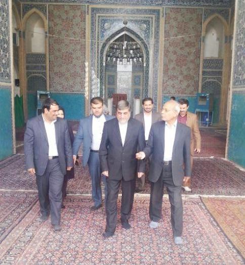 بازدید وزیر ارشاد از مسجد جامع کبیر و پروژههای عمرانی-فرهنگی یزد