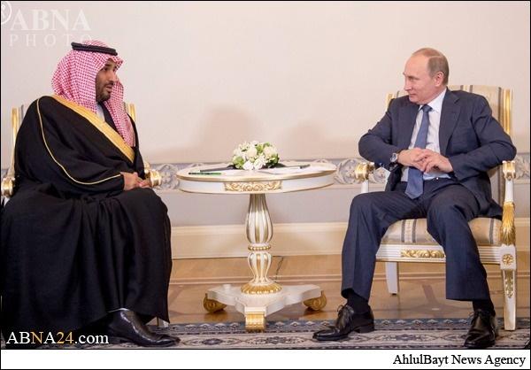 تصاویری از دیدار پسر ملک سلمان با پوتین