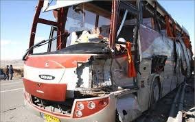 یک کشته و 4 مجروح، نتیجه بی توجهی راننده اتوبوس در محور سمنان -دامغان