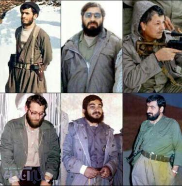 تصویر هاشمی، روحانی، لاریجانی، شمخانی، احمدینژاد و رضایی با لباس نظامی