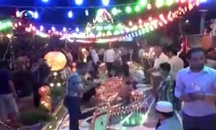 جشنواره شمعها؛ مراسم نیمه شعبان در کربلا