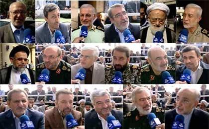 اظهارات حاشیه ای مسئولان در نماز عید فطر دیروز/احمدی نژاد، ضرغامی، عارف و... چه گفتند؟