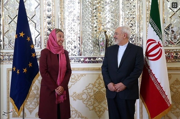 توافق هسته ای ایران و پنج بعلاوه یک,فدریکا موگرینی,محمدجواد ظریف