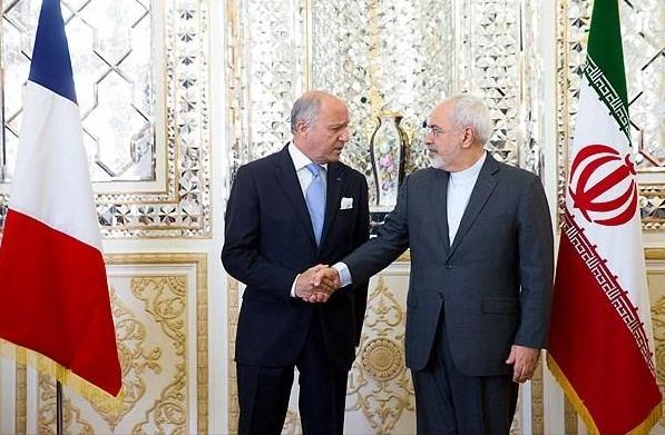 ایران و فرانسه,توافق هسته ای ایران و پنج بعلاوه یک,لوران فابیوس,محمدجواد ظریف