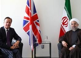 توافق هسته ای ایران و پنج بعلاوه یک,حسن روحانی,دیوید کامرون,ایران و انگلیس