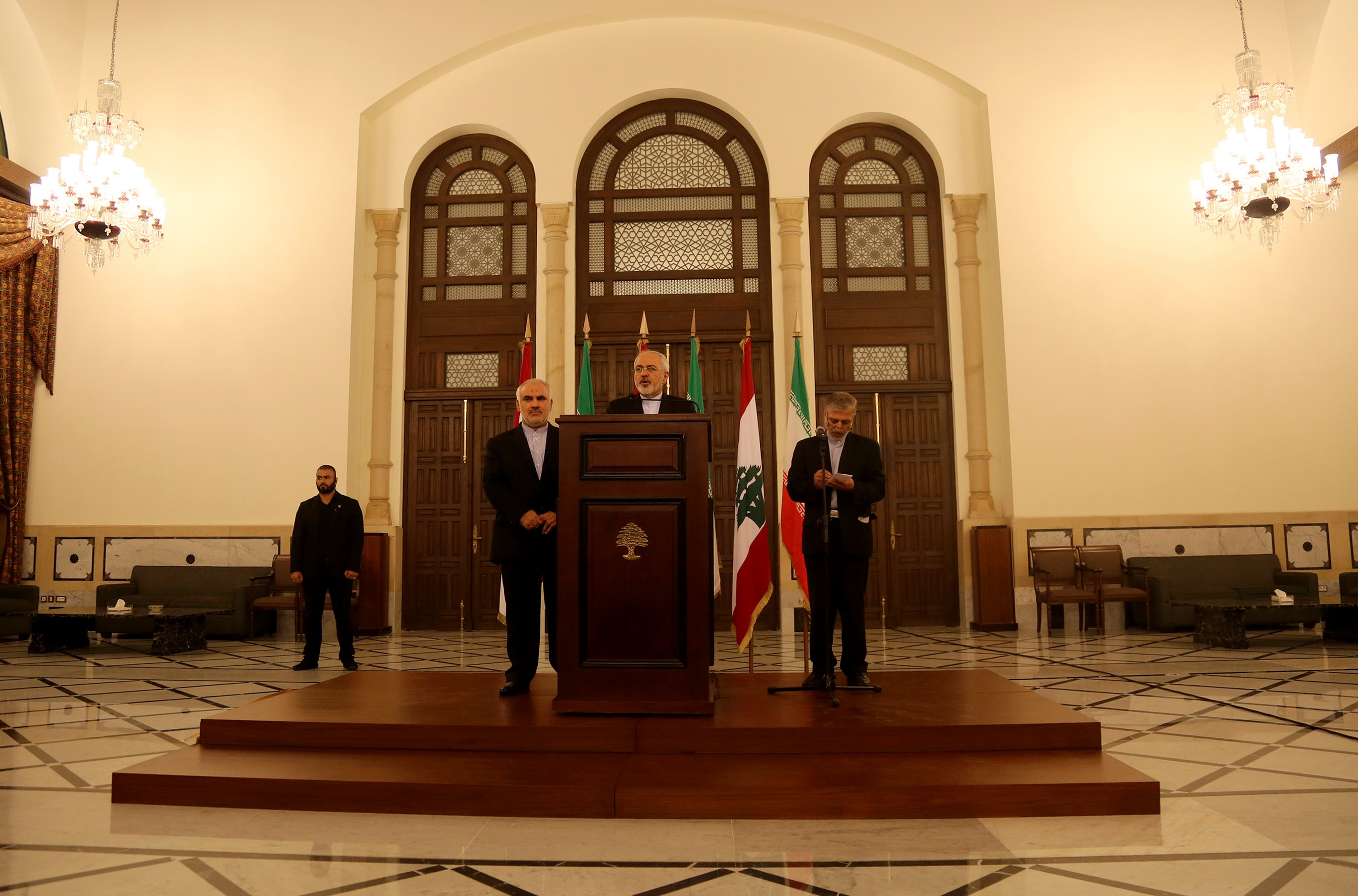 تصاویر ملاقاتهای ظریف در لبنان