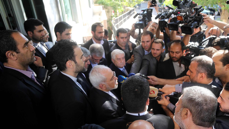 تصاویری از دیدار ظریف و بشار اسد