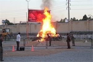 امحاء 1100 کیلوگرم مواد مخدر در ارومیه با حضور وزیر کشور