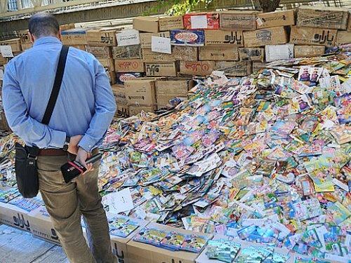 تصاویری از 3 میلیون سی دی غیر مجاز که نابود شد / ارزش ریالی 5 میلیارد