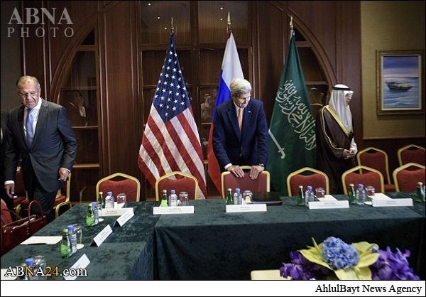 تصاویری از نشست وزرای خارجه آمریکا، روسیه و عربستان دربارۀ توافقنامه هستهای ایران