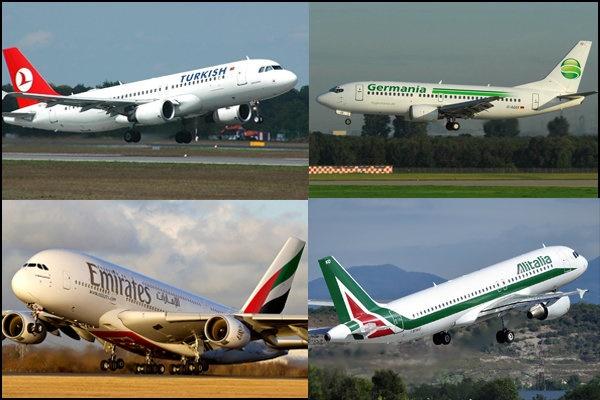چند ایرلاین خارجی در ناوگان هوایی ایران فعالیت دارد؟/مقصد پروازهای بین المللی ایران را بشناسید