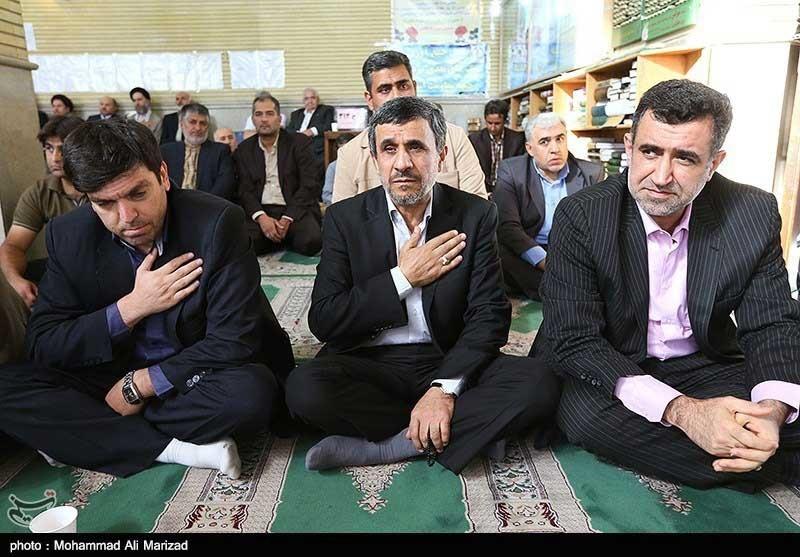 از احمدینژاد و وزرای کابینه تا فتحاللهزاده در مراسم درگذشت مادر اولین وزیر ورزش