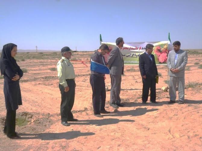 افتتاح پروژه 260 هکتاری نهالکاری درصوفی آباد شهرستان سرخه