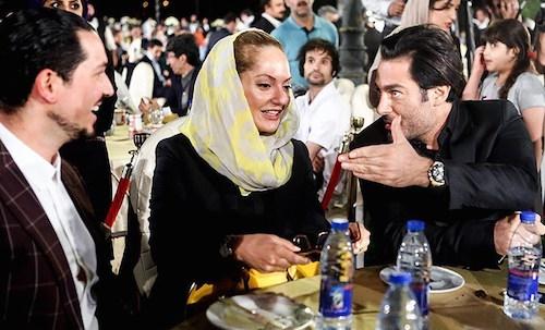 تصاویر مهناز افشار و همسرش در جشن روز ملی سینما/ از حرفهای درگوشی تا خوش و بش با وزیر ارشاد