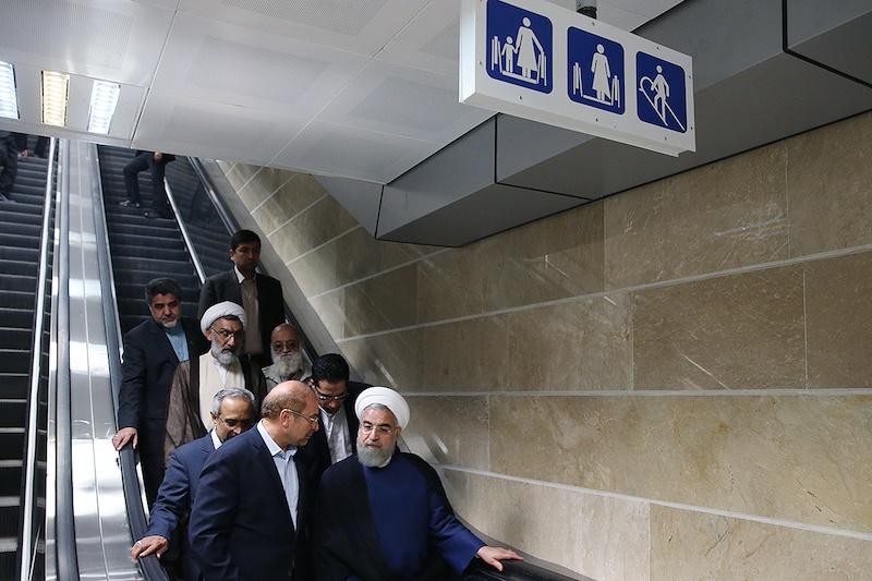 افتتاح بلندترین خط متروی خاورمیانه با حضور رییس جمهور