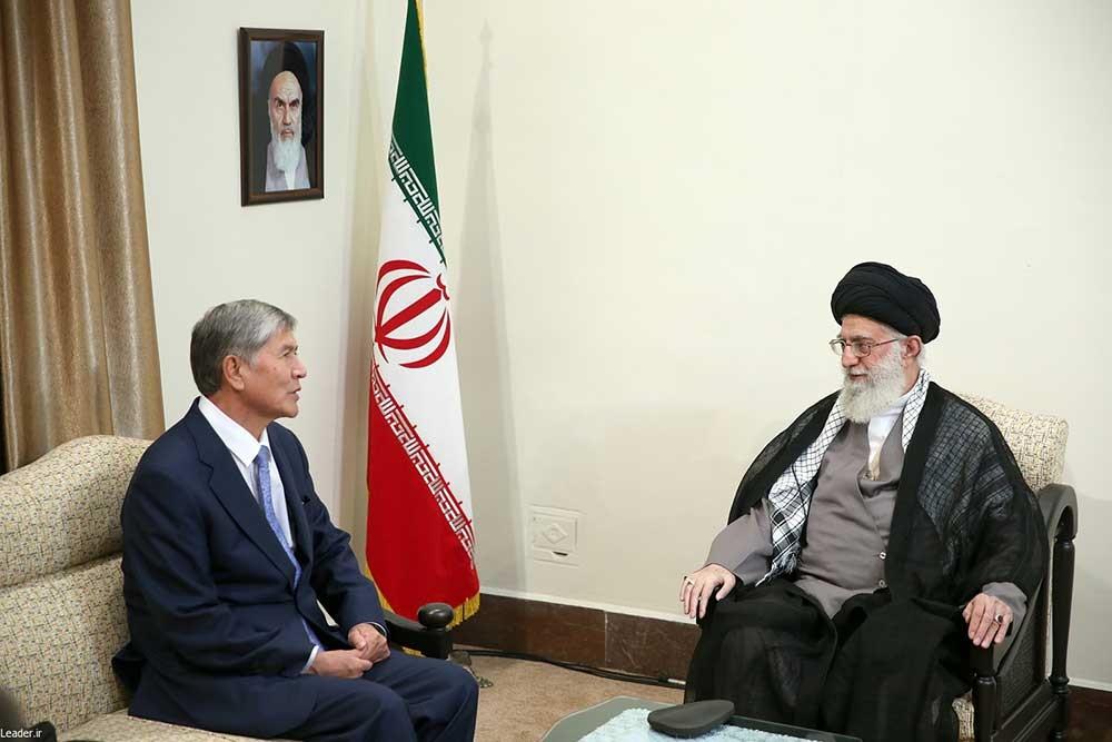 دیدار رئیسجمهور قرقیزستان با رهبر انقلاب