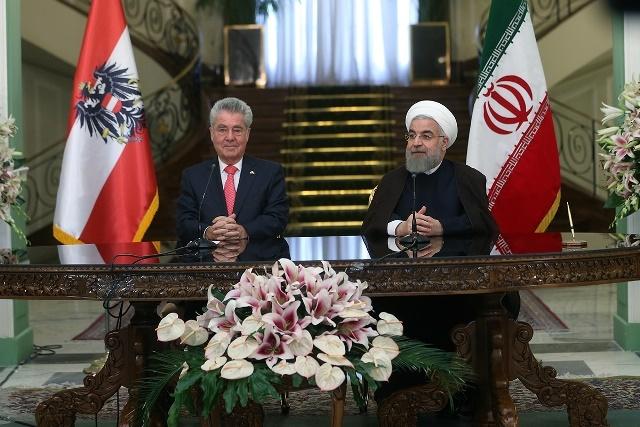 وضعیت سوریه، تعامل با اتحادیه اروپا و دیدگاه های مشترک تهران و وین در کنفرانس خبری روحانی و فیشر