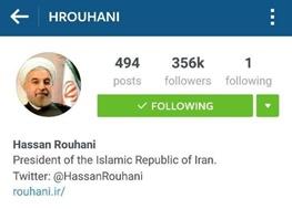 حسن روحانی,آیتالله خامنهای رهبر معظم انقلاب,اینستاگرام,چهرهها در اینستاگرام