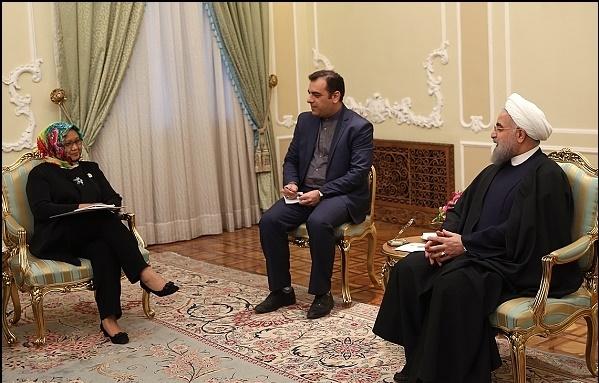 روحانی در دیدار وزیر خارجه اندونزی: ایران خواستار روابط خوب، صمیمانه و برادرانه میان همسایگان است