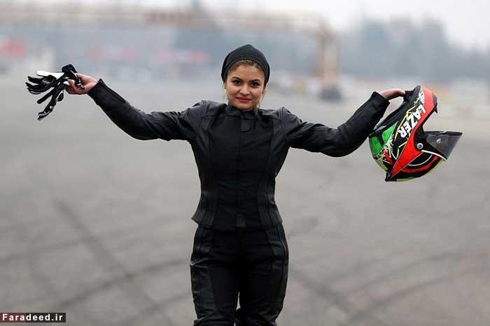 16 1 17 1991633371 117 - اولین زن موتورسوار حرفهای در ایران از نگاه خبرگزاری فرانسه