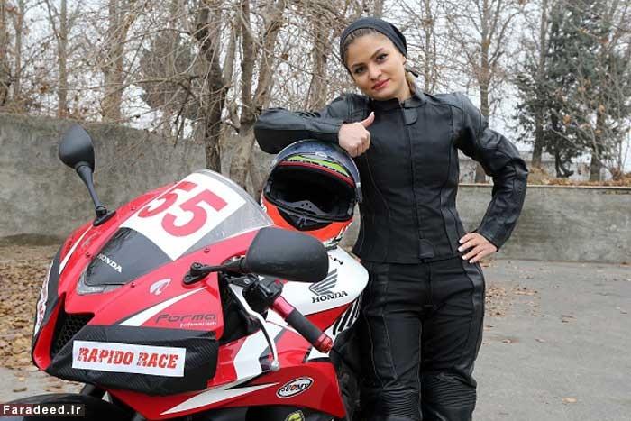16 1 17 1992733372 332 - اولین زن موتورسوار حرفهای در ایران از نگاه خبرگزاری فرانسه
