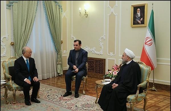 رییس جمهور در دیدار آمانو:ایران همواره به صلحآمیز بودن فعالیتهای هستهایاش متعهد بوده و خواهد بود