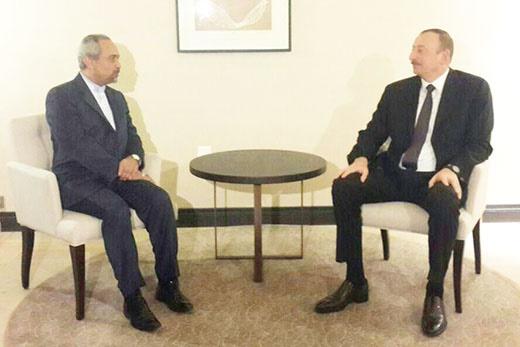 نهاوندیان در دیدار با رئیس جمهوری آذربایجان: هیچ مانعی بر سر راه توسعه روابط دو جانبه وجود ندارد