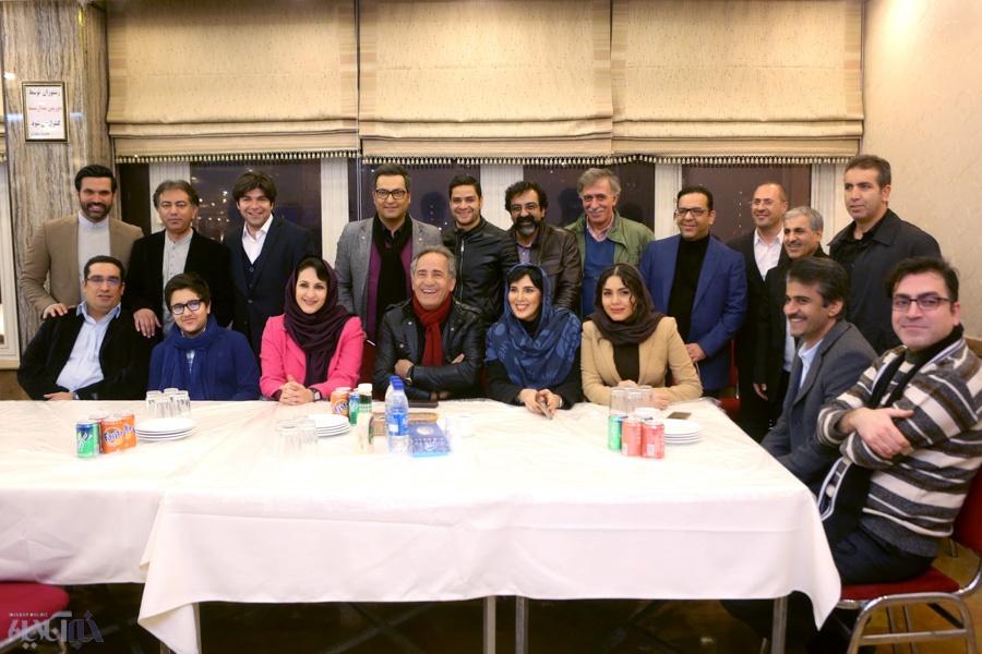 لیلا بلوکات، فاطمه گودرزی، ازاده زارعی و  جواد یحیوی در یک مراسم