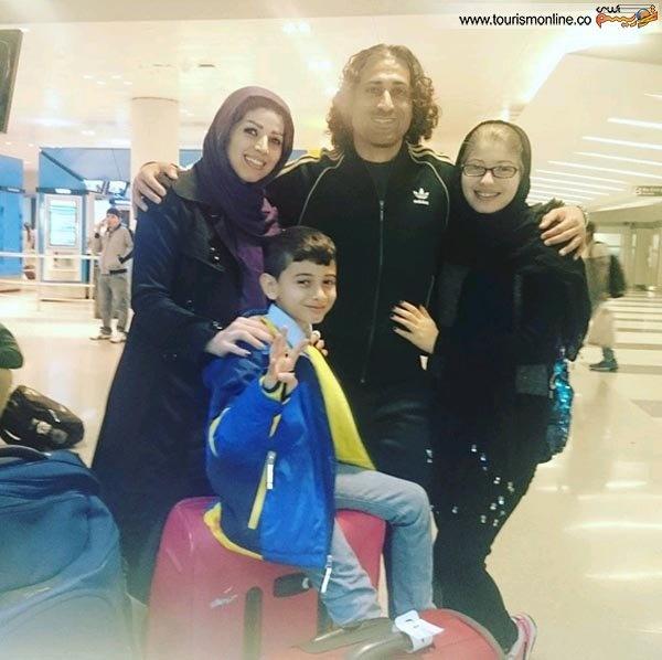 فوتبالیست ایرانی و همسرش در نیویورک و نیوجرسی / عکس