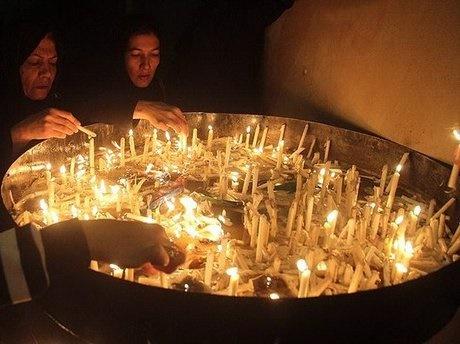 گریه شمعها پای هفتمنبر در بیرجند