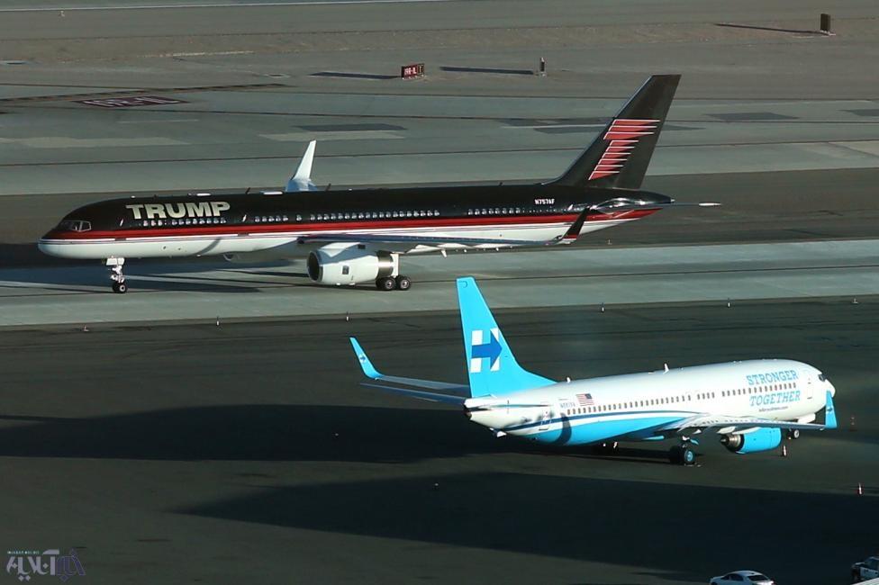 عکس | تقابل هواپیماهای شخصی کلینتون و ترامپ