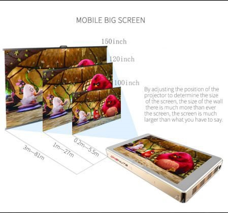 این مینی پیسی جادویی هم پروژکتور دارد و هم نمایشگر لمسی ۸  اینچی