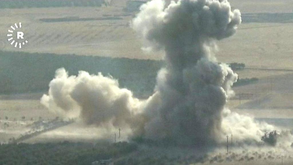 فیلم | صحنههای حمله به مواضع داعش در شهر بعشیقه | انفجارهای پی در پی