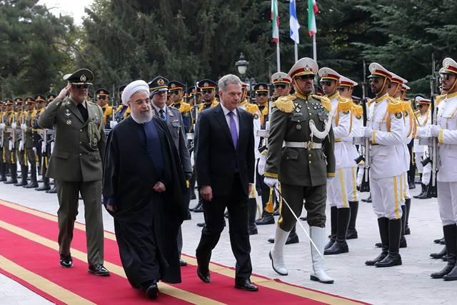 تصاویر | استقبال رسمی دکتر روحانی از رییسجمهوری فنلاند