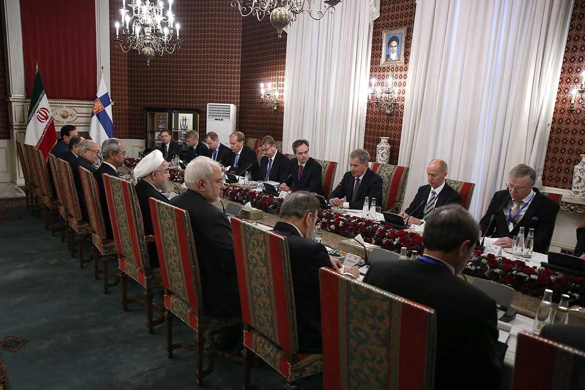 تصاویر | مذاکرات مقامات بلند پایه ایران و فنلاند و امضاء چهار سند همکاری