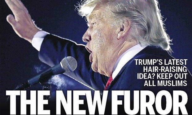 تصویر ترامپ روی جلد کتاب سخنرانیهای هیتلر