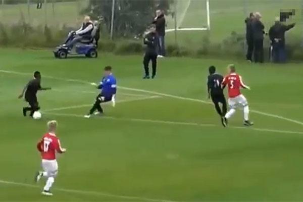 فیلم   نوجوان ۱۳ ساله شگفتی ساز فوتبال دنیا شد